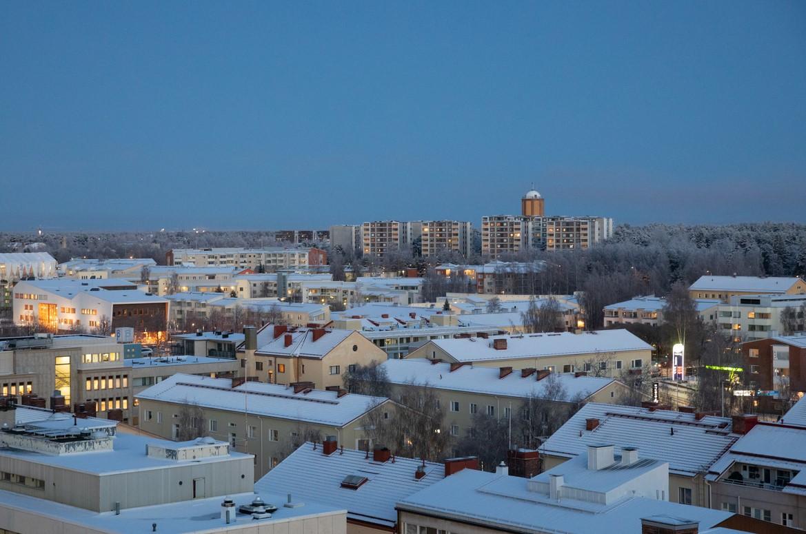 Ilmakuva Oulun keskustasta